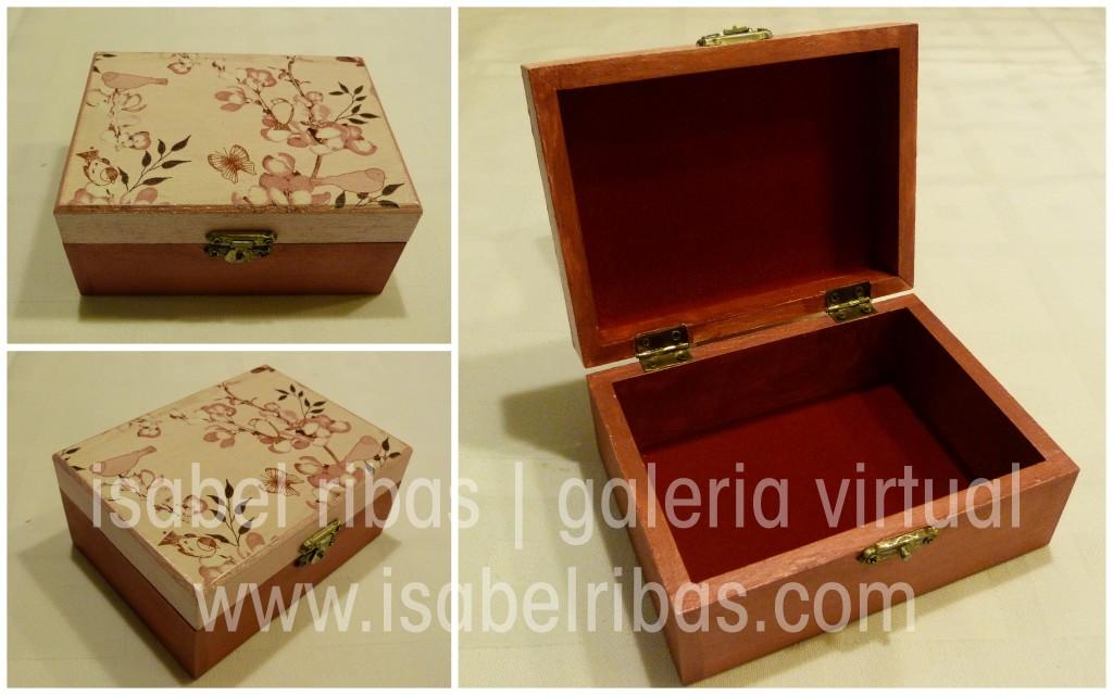 """Caixa """"Rosa Floral"""""""