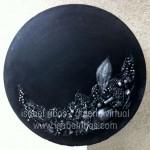 Mandala Negra Metalizada